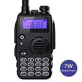 Radioddity GA-5S Walkie Talkie Emisoras de Caza UHF VHF Transmisores-receptores FM de Banda Dual Walkie Talkie Profesional 128 Canales con Auriculares