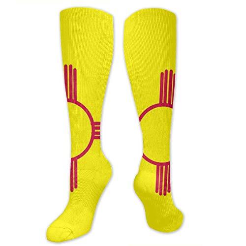 Bandera americana Bandera mexicana Calcetines de compresion Medias deportivas de tubo Calcetines hasta la rodilla 50 cm / 19,7 pulgadas