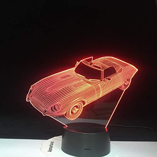 Wfmhra Cambia Colore Decorazioni per la casa Lampada LED Forma Auto Luce USB 3D Luminarias Veicolo Luce Notturna Lampada da scrivania per Neonati