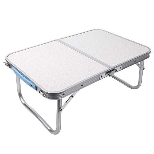GOTOTOP Folding Picnic Tables Height Adjustable Aluminium Camping Table Load 40 kg Stable Garden Side Table 60 x 40 x 26 cm