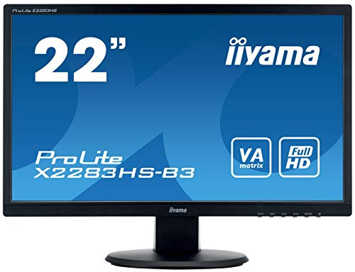iiyama ProLite X2283HS-B3 54,7cm (22 Zoll) VA LED-Monitor Full-HD (VGA, HDMI, DisplayPort) schwarz
