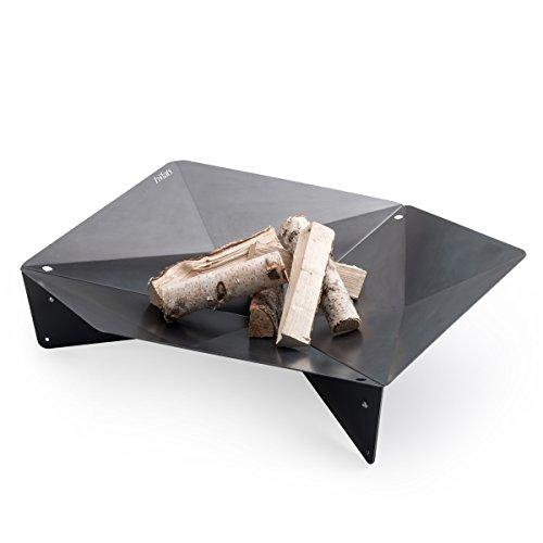 höfats - TRIPLE 120 Feuerschale - Design-Feuerstelle und Grill - für Terrasse und Garten - Corten-Stahl mit Rost-Optik