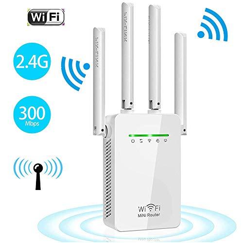 Repeater WLAN Verstärker Wireless Range Extender 300Mbit/s 2,4GHz WiFi Signalverstärker Modus unterstützt WiFi Booster Kompatibel mit Allen WLAN Geräte