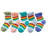 B/H Calcetines Cortos,Calcetines Invisibles,Calcetines Infantiles Medias de Seda de Hielo Calcetines Bordados-Mixtos M_5pcs