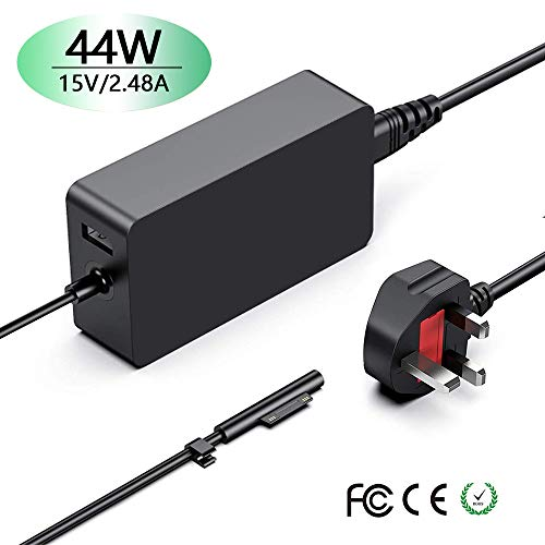 Surface Pro 5 Charger,Cshare 44W Surface Laptop Charger,15V 2.58A Power Supply Compatible for Microsoft Surface Book Surface Pro 3/4/5/6/Surface Go Windows Surface Laptop 2 Tablet Adapter