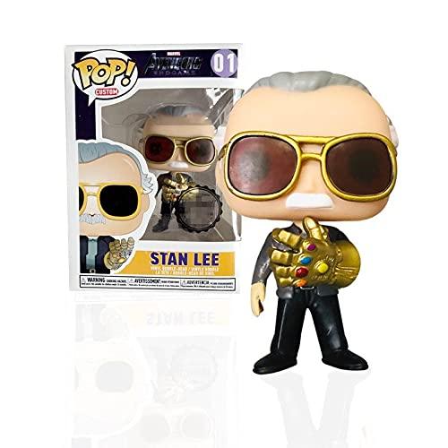 Figurine Pop Marvel Avengers Stan Lee Thanos #01 Figurine en Vinyle en Boîte Jouets Collection Poupées Cadeaux pour Enfants