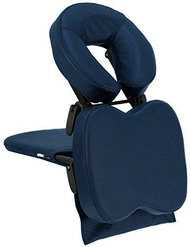 TAOline TRAVEL MATE, Tischaufsatz mit verstellbarer Kopfstütze für mobile Massage, statt Massagestuhl, klein & leicht, inklusive Transporttasche, (dunkel-blau)