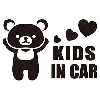 imoninn KIDS in car ステッカー 【パッケージ版】 No.11 クマさん (黒色)