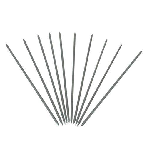 TEN-HIGH tig Electrodos de tungsteno Electrodos de soldadura, Tungsteno puro Verde Extremos afilados, Para soldadura AC, 2.4mm x 85mm