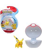 Pokémon Clip 'N' Go Pikachu & Poké Ball - Bevat 1x 5cm figuur & 1x Premier Ball - Nieuwe Golf 2021 - Officieel gelicentieerd