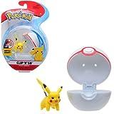 Pokémon Clip 'N' Go Pikachu y Poké Ball - Contiene 1x Figura de 5 cm y 1x Premier Ball - Nueva Ola 2021 - Licencia Oficial