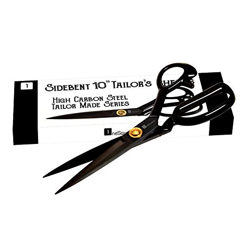 Scissors 10 inch - Professional Heavy Duty Industrial Strength High Carbon Steel Tailor Scissor Shears for Fabric Leather Sewing Dressmaking Tailoring Home Office Artists Students Tailors Dressmakers