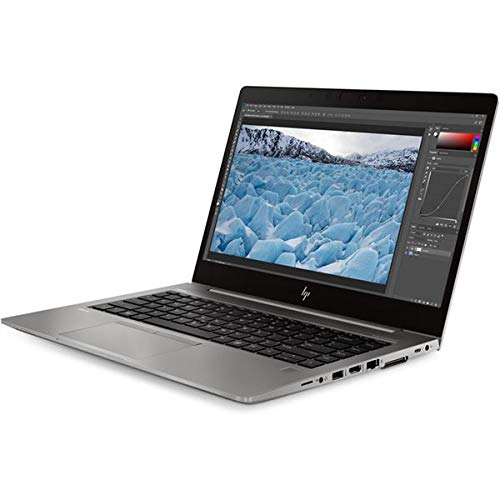 HP ZBook 14u G6 Mobile Workstation, Silver, Intel Core i7-8565U, 16GB RAM, 512GB SSD, 14.0' 1920x1080 FHD, 4GB AMD Radeon Pro WX 3200, HP 1 YR WTY + EuroPC Warranty Assist, (Renewed)