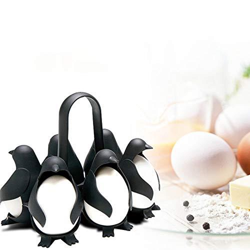 エッグボイラー 卵蒸し器 蒸気ラック たまご 卵蒸しスタンド 台所小道具 キッチンツール エッグポーチャー ペンギン ゆで卵器 家庭用グッズ 調理用エッグスチームラック 6ケ用 超かわいい 操作便利 時間節約