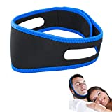 Easyinsmile Snore Stopper/Reducing Chin Strap Anti Snoring Device Better Sleeping Aids for Men and Woman (Black+Blue)