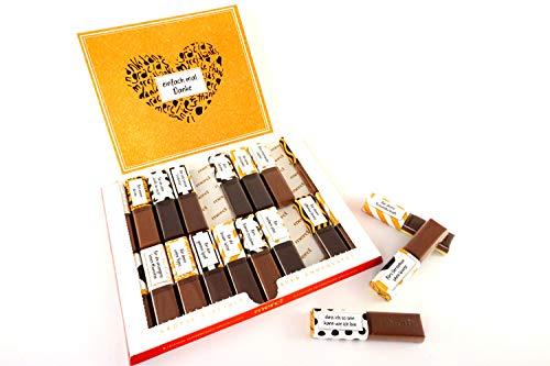 SURPRISA Aufkleberset für Merci-Schokolade: Das persönliche Dankeschön und kreative Geschenk für den/die beste/n Freund/in