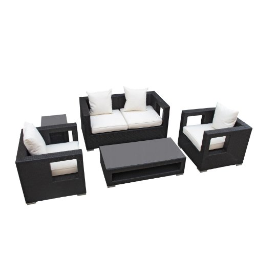 Modway 5-Pc Lunar Outdoor Sofa Set in White