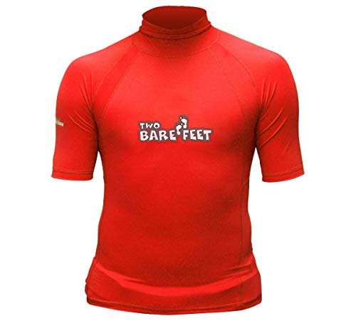 Pour Enfant Protection UV 50 Thermique Rashguard à manches courtes rouge Rouge 3XL