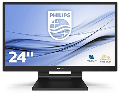 "Philips 242B9T- Monitor Táctil para PC de 24"" FHD (Portátil IPS, resolución 1920x1080, LowBlue Mode, VESA, Altavoces, HDMI, Displayport, USB)"