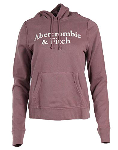 Abercrombie & Fitch Sudadera con capucha para mujer, color rosa salmón S