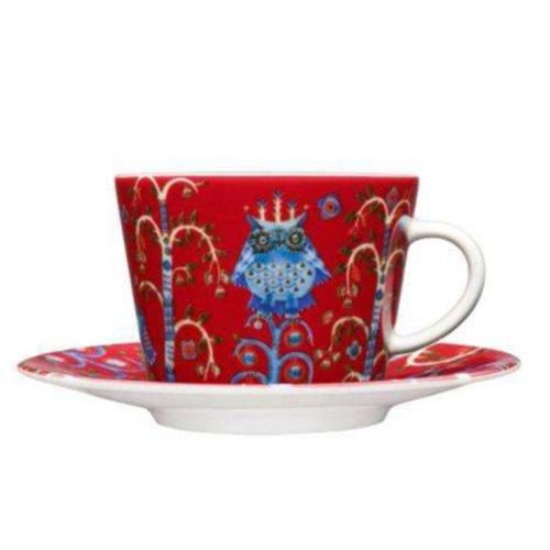Taika Kaffee / Cappuccinotasse, rot