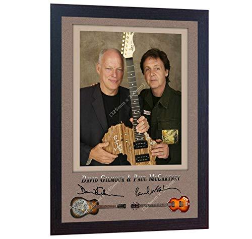 SGH SERVICES NEU! Paul McCartney The Beatles Pink Floyd David Gilmour Gerahmtes Poster mit Autogramm, gerahmt
