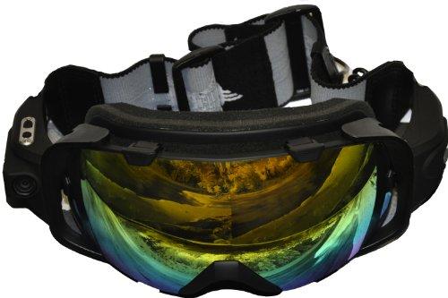 SportXtreme Mountain Mask, Action Camera Indossabile, Foto/Videocamera Full HD 1080p, per Sci/Snowboard, 5Mpx, Grandangolo 135 Gradi, Nero