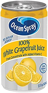 Ocean Spray 100% White Grapefruit Juice, 5.5 Ounce Mini Cans (Pack of 48)