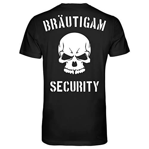 JGA Bräutigam Security T-Shirt | Junggesellenabschied | Bachelor Party Schwarz XL