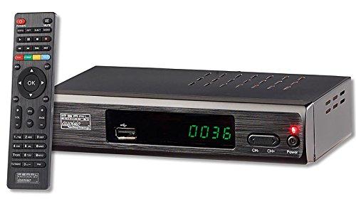 auvisio Mini DVB T2 Receiver: DVB-T2-Receiver mit H.265/HEVC für Full-HD-TV, HDMI & SCART, LAN, USB (DVB-T2 Receiver Mini HDMI)