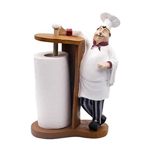 YANGHONDD Escultura Decoración Estatuas Figuritas Artesanías De Resina Creativas del País Americano Tienda De Restaurantes De Alta Gama Hotel Bar Chef Soporte De Rollo Adornos De Resina