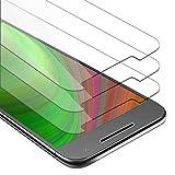 Cadorabo 3X Película Protectora para Motorola Moto G4 Plus en Transparencia ELEVADA - Paquete de 3 Vidrio Templado (Tempered) Cristal Antibalas Compatible 3D con Dureza 9H