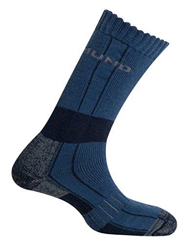 Mund Socks – Himalaya Wool Merino Thermolite, Couleur Bleu, Taille EU 42 – 45