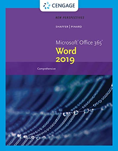 New Perspectives MicrosoftOffice 365 & Word 2019 Comprehensive (MindTap Course List)