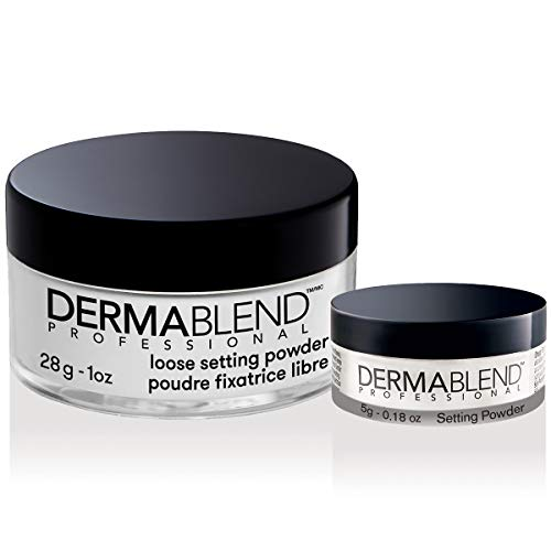 Dermablend Loose Setting Powder Makeup Gift Set, Translucent Powder Kit for Face Makeup, Mattifying Finish and Shine Control, Dermatologist Recommended