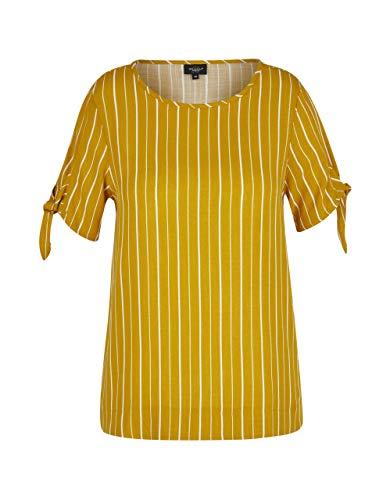 Bexleys Woman by Adler Mode Damen Schlupfbluse im Streifendessin gelb/weiß 48