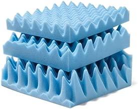 Convoluted Foam Mattress Pads Size: King, Thickness: 4