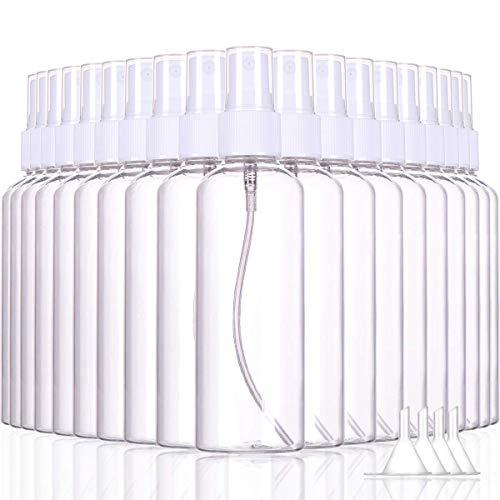 Lot de 200 mini flacons vides en plastique transparent 100 ml