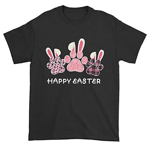 TeeWarrior Camiseta con diseño de pata de perro con orejas de conejo
