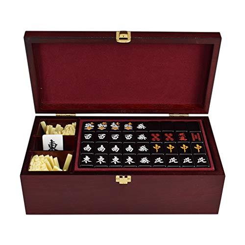 Boutique Conjunto Mah Jongg Japonés, Producción De Acrílico Seleccionada Japon Mahjong Juego De Mesa, Juegos De Mah Jong, Majong Set Majiang (2.7 cm*2 cm*1.6 cm),Black
