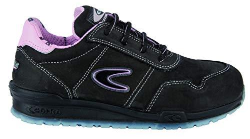 COFRA COFRA, moderner, Leichter Sicherheitshalbschuh für Damen Alice S3 SRC im Sneaker-Look (35, schwarz)