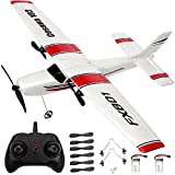 PLRB TOYS RC Plane 2.4Ghz 2 Channels RC Airplane, DIY Remote Control Airplane with 3-Axis Gyro for Beginner Easy to Fly EPP Foam Glider Toys (Wingspan 380mm)
