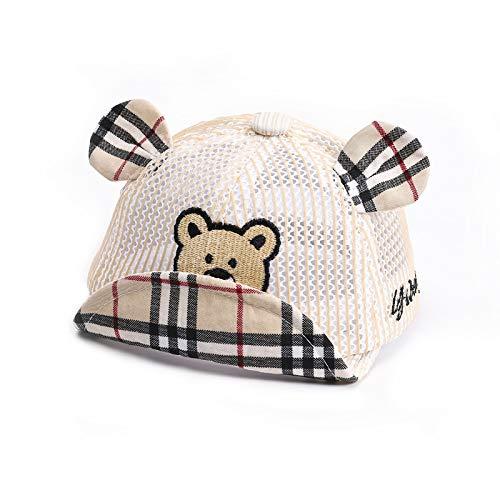 Gorra de béisbol para niños Gorra de bebé de Malla Transpirable de algodón Bordado Coreano Nuevo Sombrero de protección Solar de celosía para niños de Verano