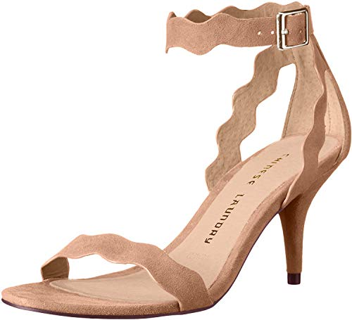 Chinese Laundry Women's Rubie Dress Sandal, Dark Nude Suede, 8 M US