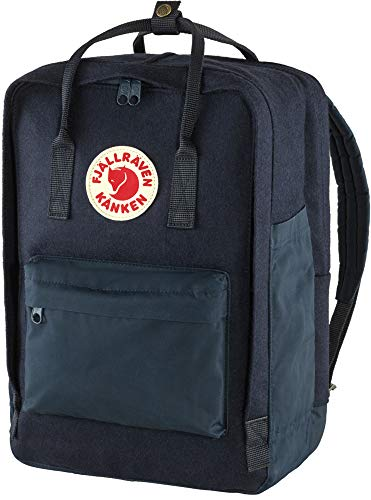 FJALLRAVEN Unisex_Adult Kånken Re-Wool Laptop 15' Daypack, Blue, One Size
