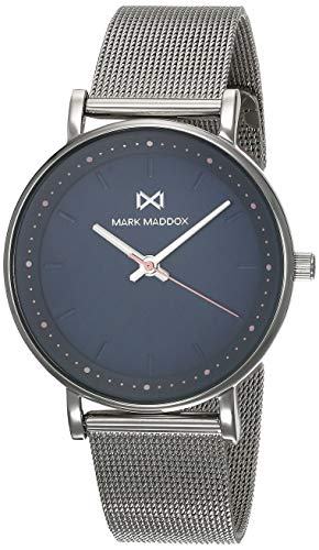 Mark Maddox Reloj Analogico para Mujer de Cuarzo con Correa en Acero Inoxidable MM0105-37