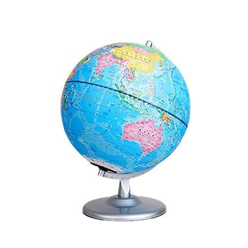 OMKMNOE Kinder Globus, Mit Tierabbildungen Durchmesser Globus Licht Und Inklusive Bebilderten Begleitheft Für Leuchtglobus Led Beleuchtung EIN Ausschalter,Blau