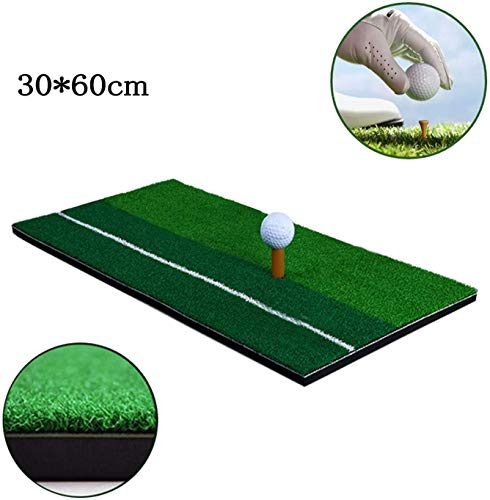 YINGJEE Golf Übungsmatte Zubehör Puttingmatte Praxis Matte für Indoor und Outdoor, 1*Golf Tee,2* Golfbälle Werden Enthalten(30x60cm)
