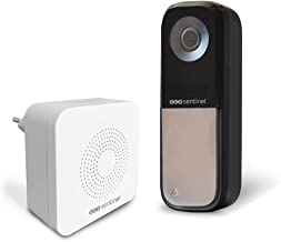 VisioBell CFI0026 SCS Sentinel deurbel, bekabelde en draadloze deurbel, weergave en antwoord via smartphone, bereik 80 m, ...