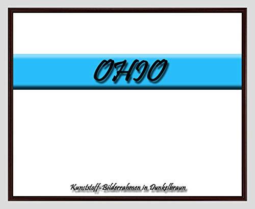 Kunststoff-Bilderrahmen Ohio 55 x 75 cm Dunkelbraun mit 1mm Acrylglas Antireflex und weißer Rückwand – WhiteFix/Easy to Use. Posterrahmen in vielen Farben und Größen. Maßanfertigung möglich